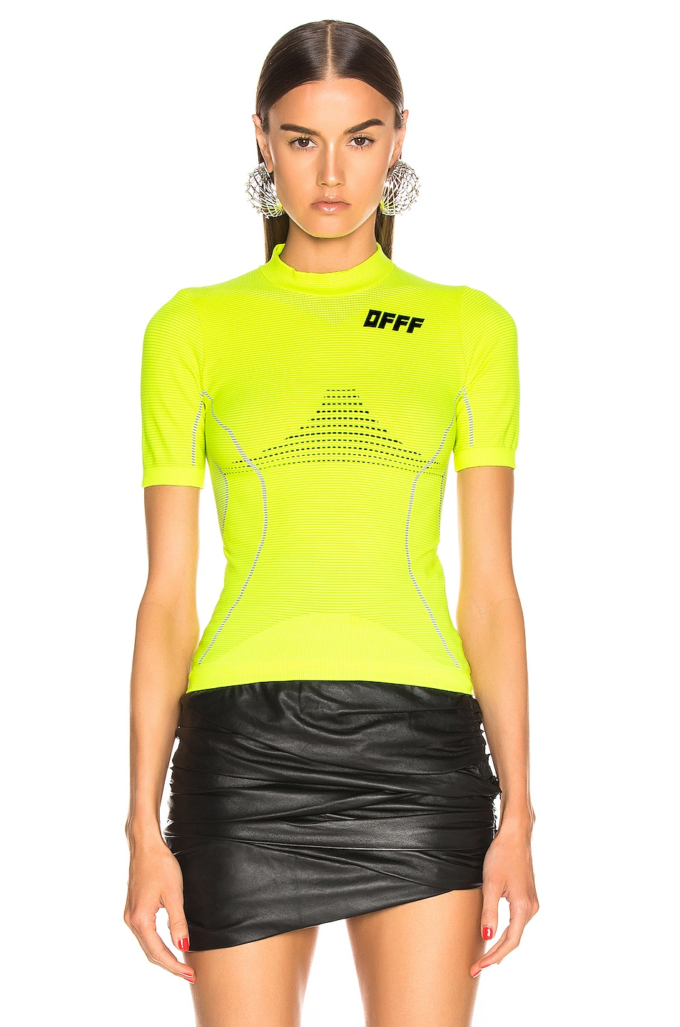 Image 2 of OFF-WHITE Athletic Short Sleeve T Shirt in Fluo Yellow