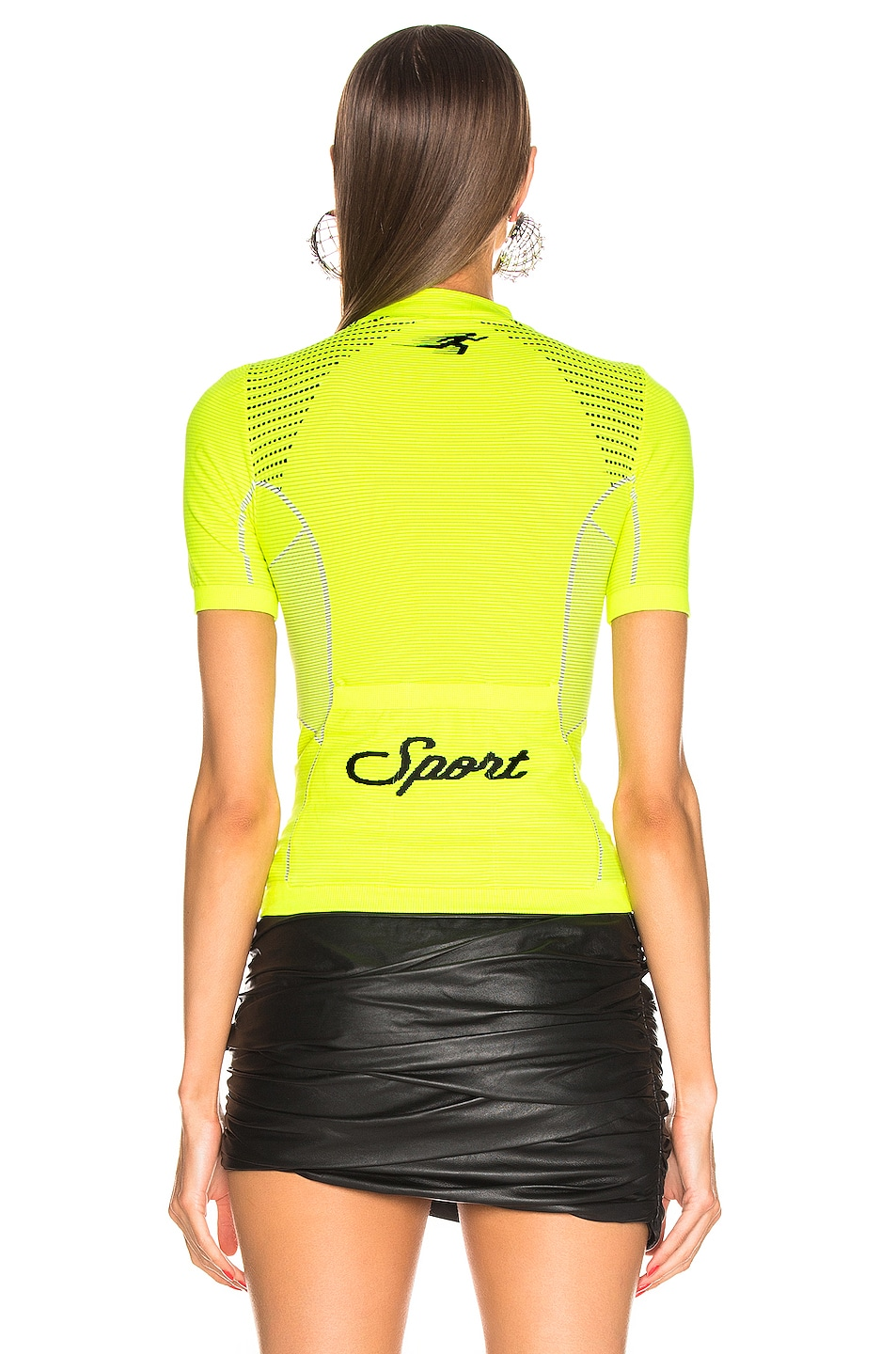 Image 4 of OFF-WHITE Athletic Short Sleeve T Shirt in Fluo Yellow