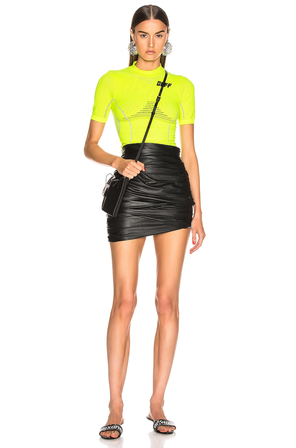 Image 5 of OFF-WHITE Athletic Short Sleeve T Shirt in Fluo Yellow