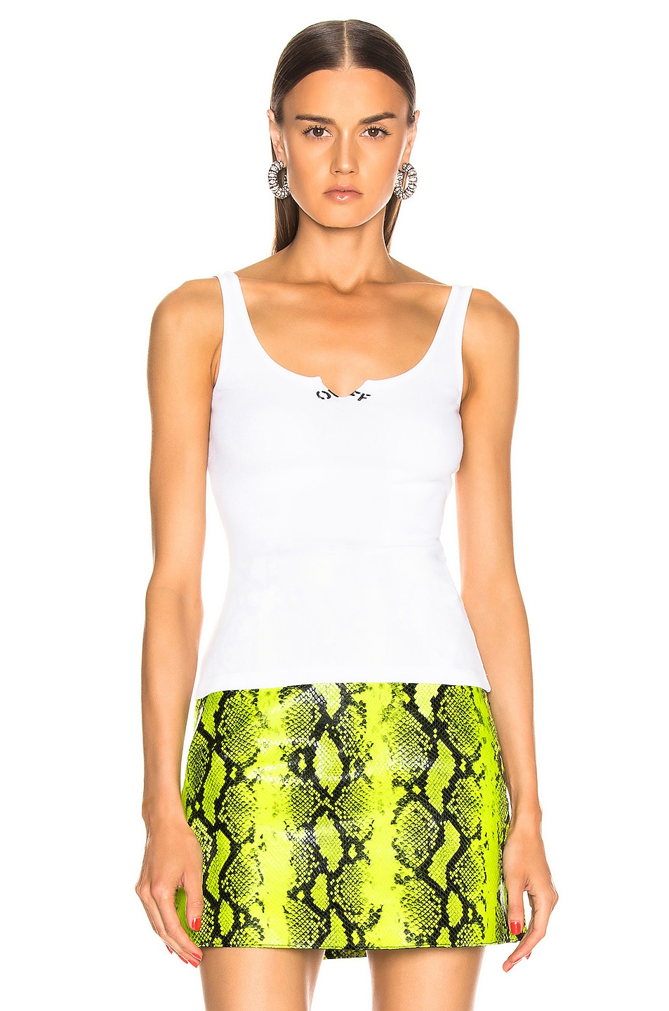 Image 2 of OFF-WHITE Cutted Tank in White & Black
