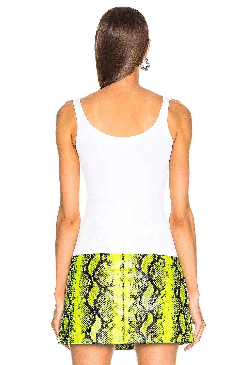Image 4 of OFF-WHITE Cutted Tank in White & Black