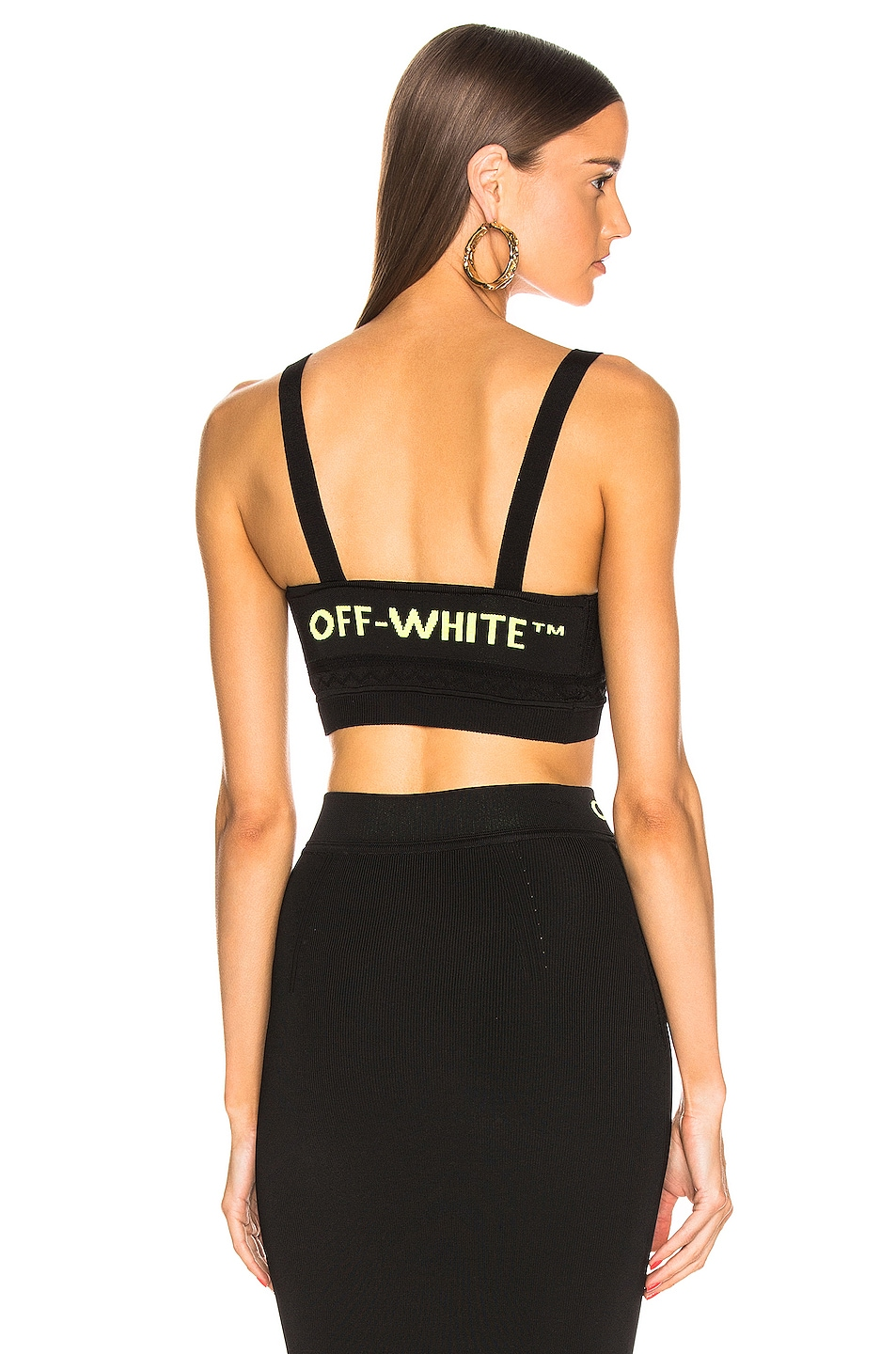 Image 1 of OFF-WHITE Knit Basic Crop Top in Black