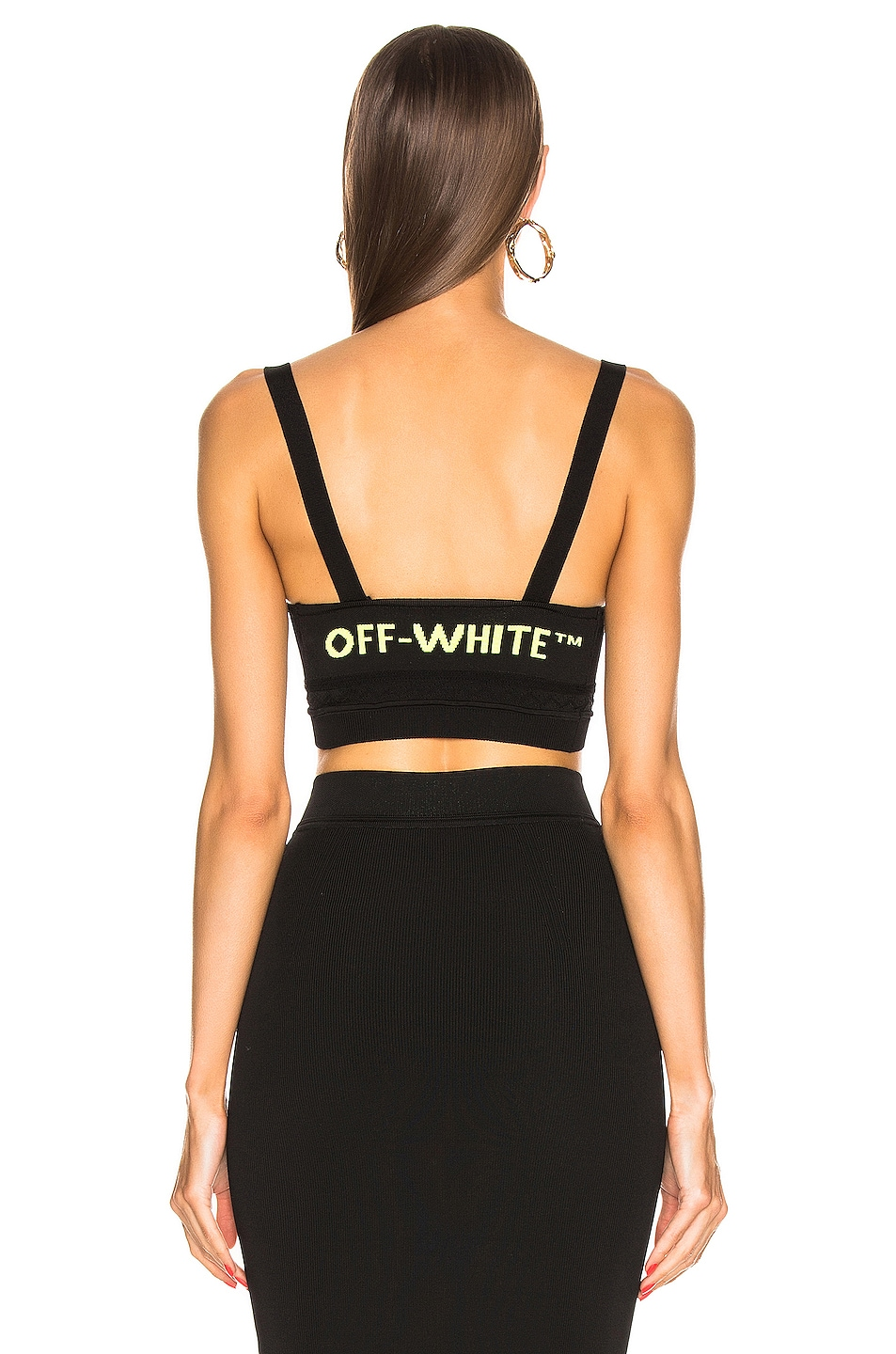Image 5 of OFF-WHITE Knit Basic Crop Top in Black
