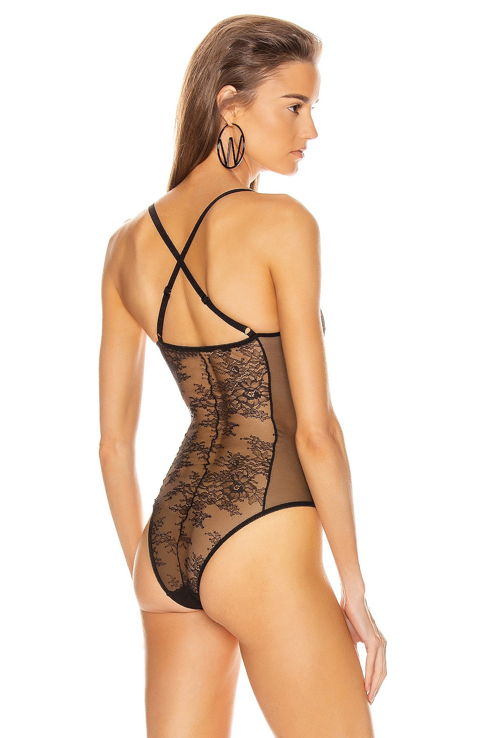 Image 4 of OFF-WHITE Lace Bodysuit in Black