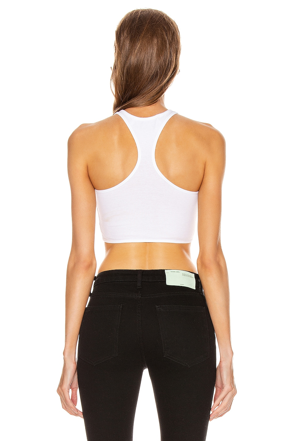 Image 3 of OFF-WHITE Rowing Top in White & Black