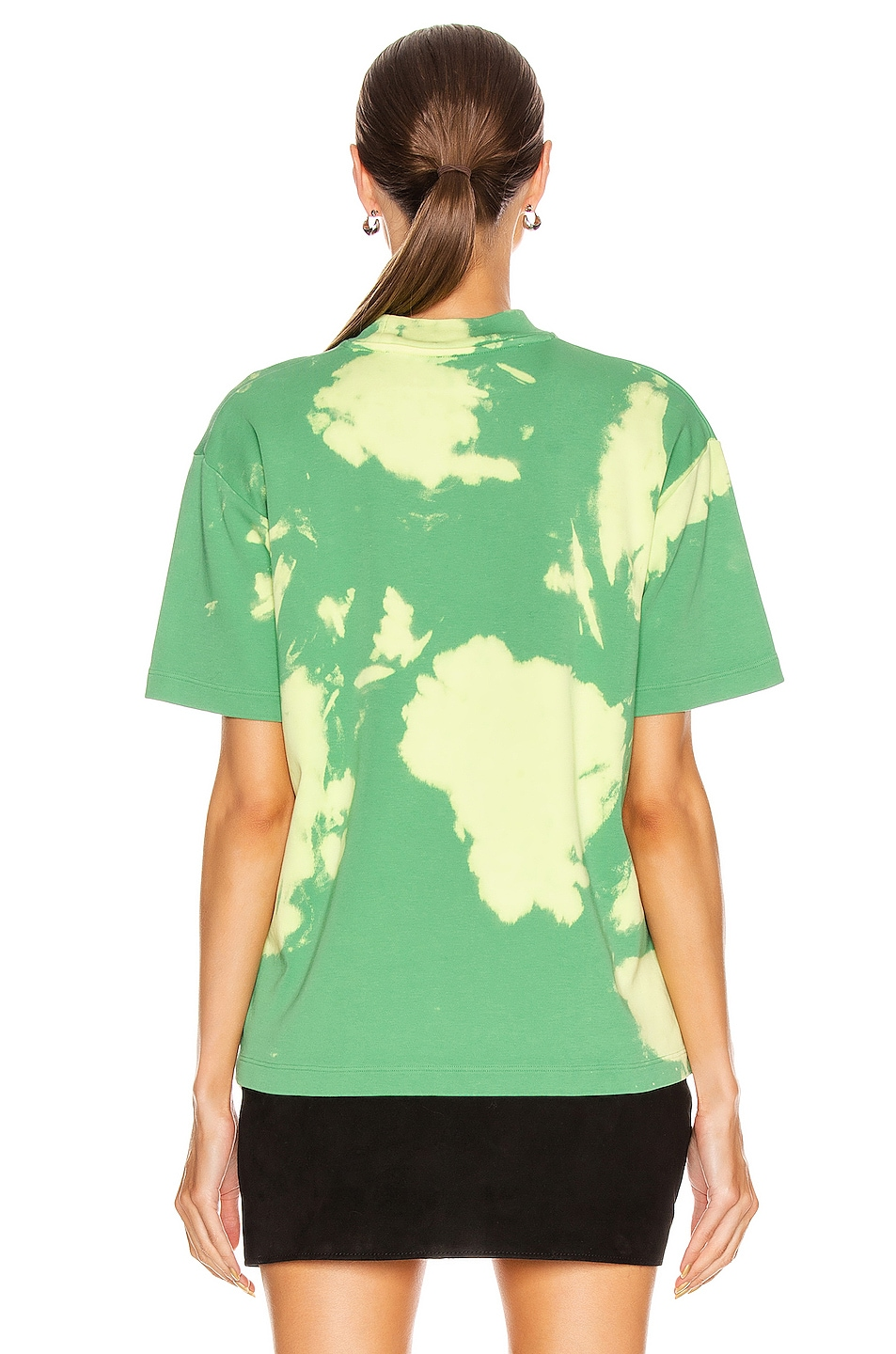Image 4 of OFF-WHITE Tie Dye Jersey Over T Shirt in Light Green