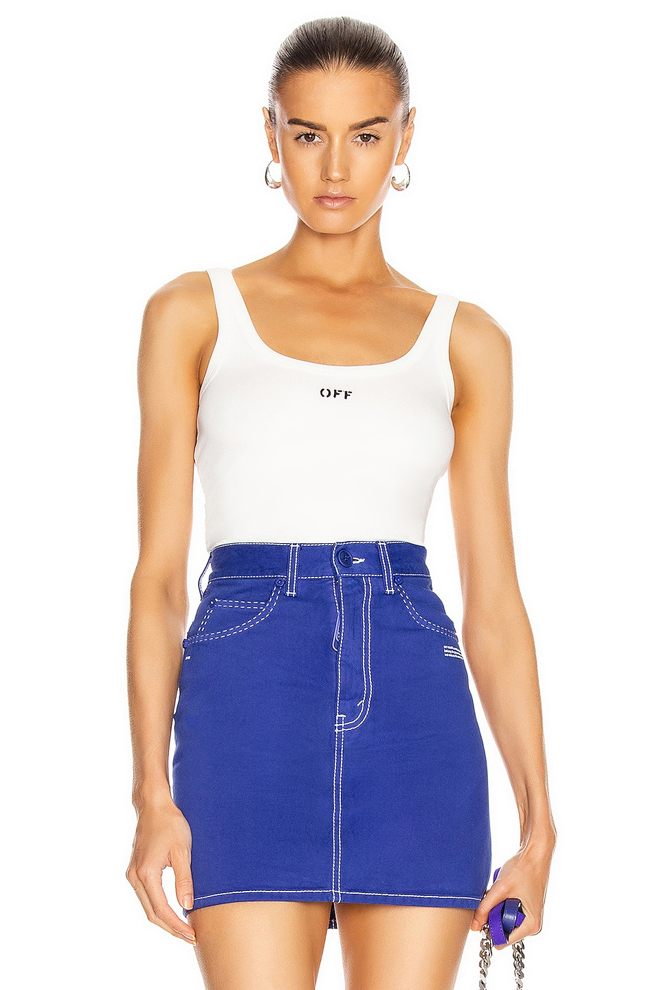 Image 1 of OFF-WHITE Tank Top in White