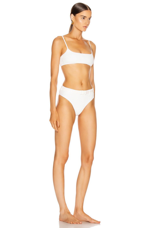 Image 2 of OFF-WHITE Belt Bikini Swim Set in White