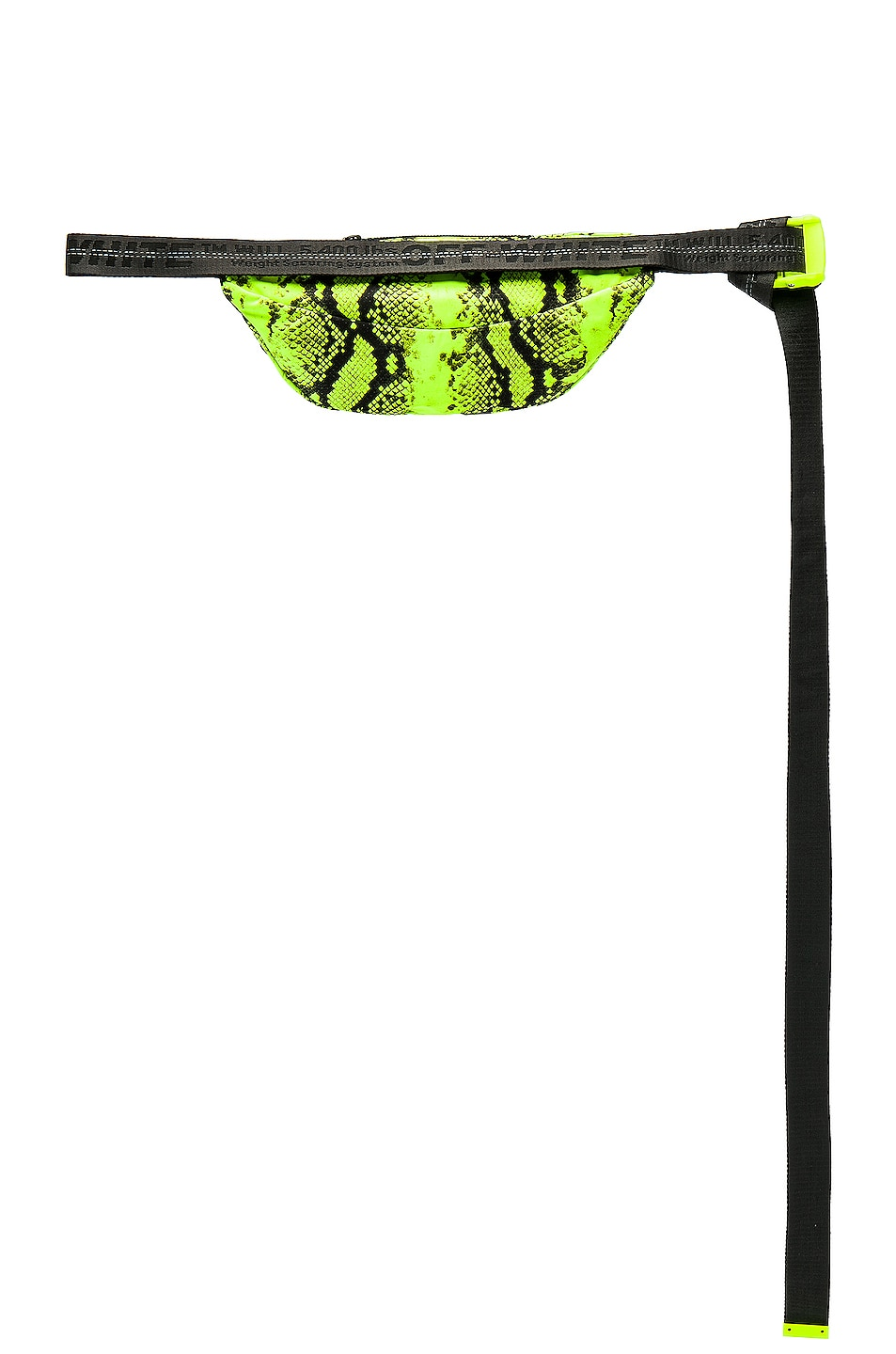 Image 4 of OFF-WHITE Python Fanny Pack in Fluo Yellow