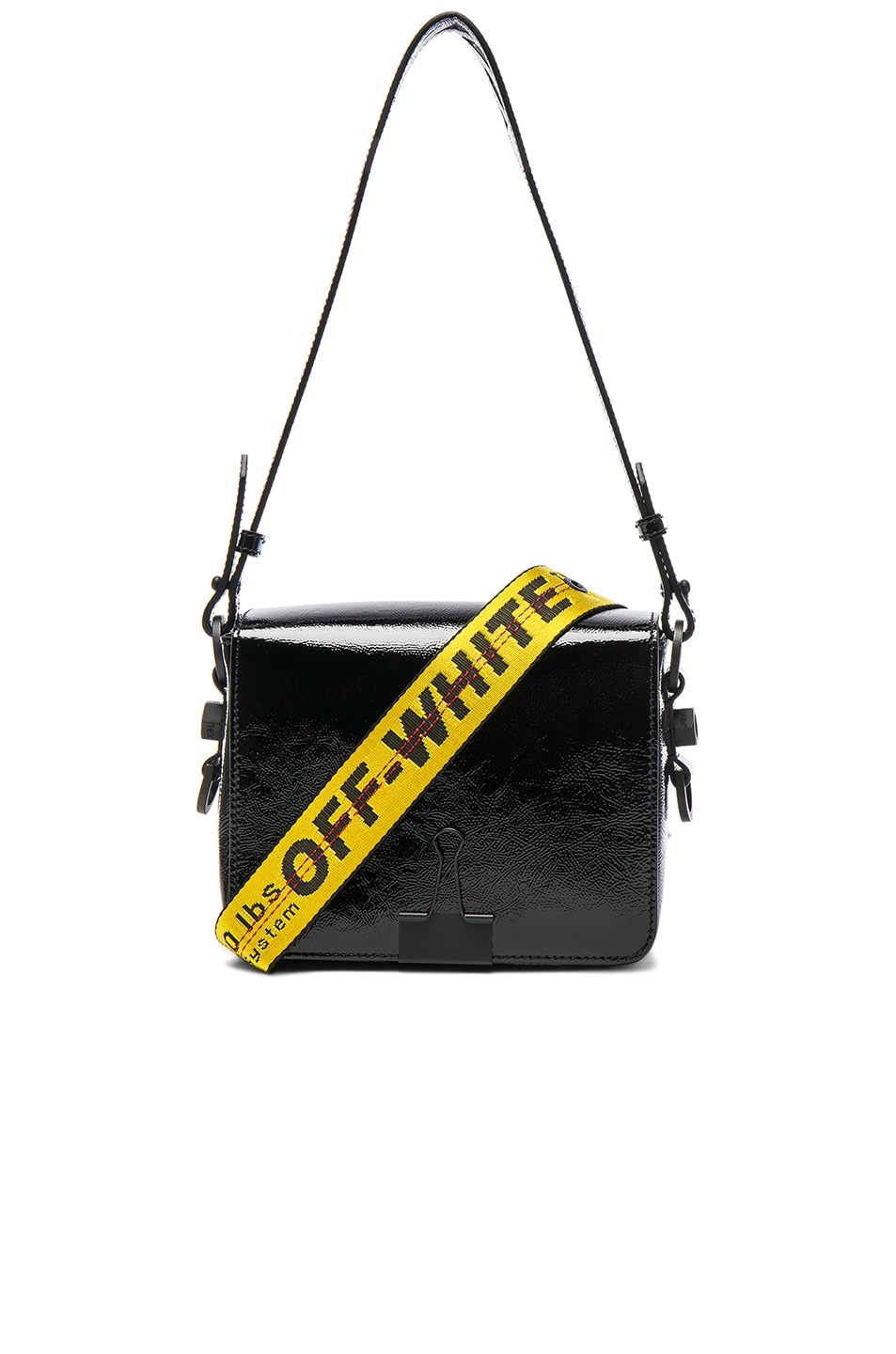 Off-white Smooth Leather Flap Crossbody Bag v5DH0