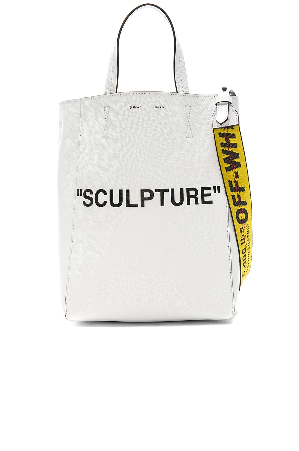 Off-white Womens Sculpture Medium Leather Tote Bag BOmty3ik