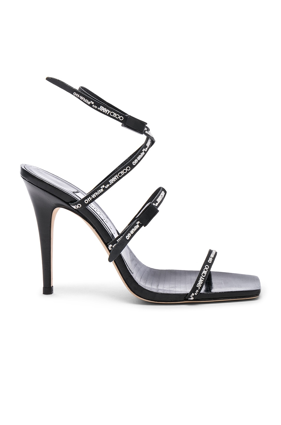 6f89d55d20 Image 1 of OFF-WHITE x Jimmy Choo Jane Sandal in Black