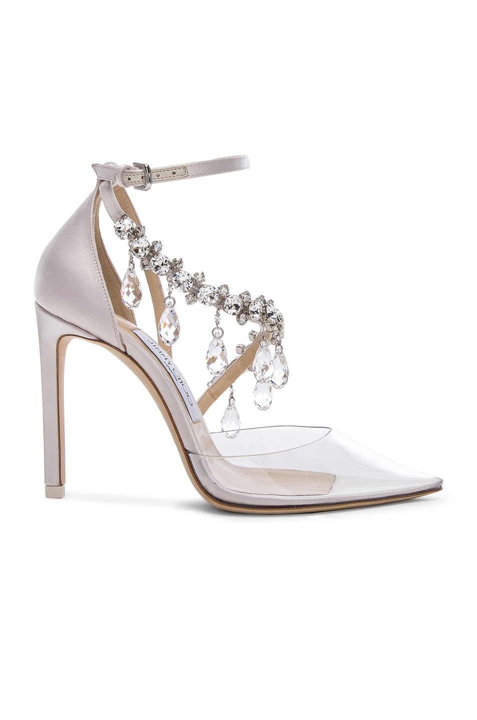 Image 1 of OFF-WHITE x Jimmy Choo Satin Victoria Pumps in Off White