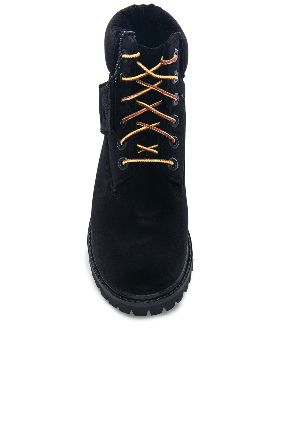 Image 4 of OFF-WHITE x Timberland Velvet Hiking Boots in Black