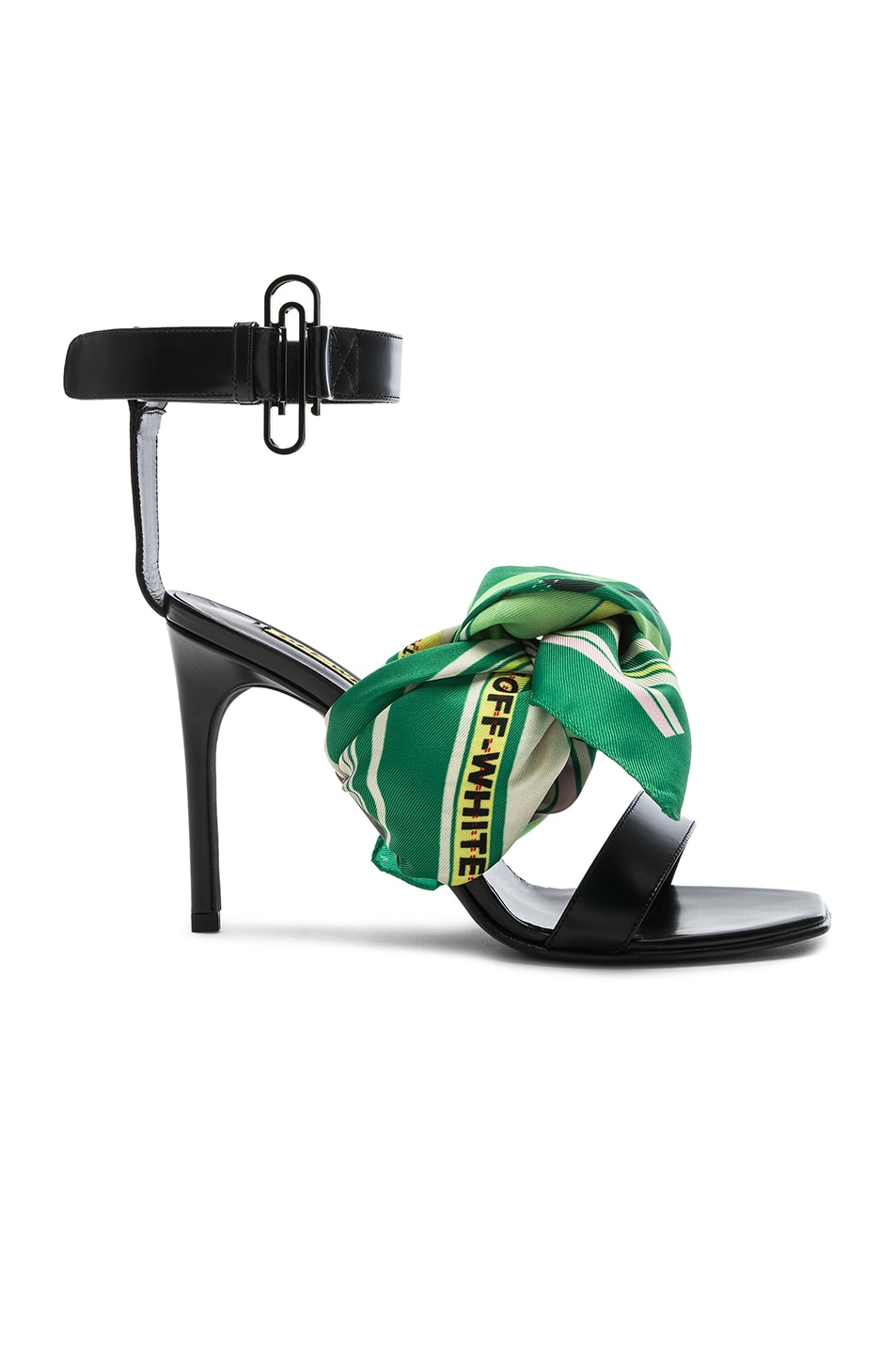 Image 1 of OFF-WHITE Scarf Sandal in Black Multicolor