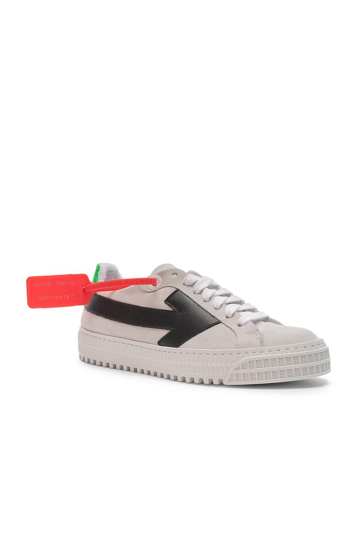 Image 2 of OFF-WHITE Arrow Sneaker in White & Black