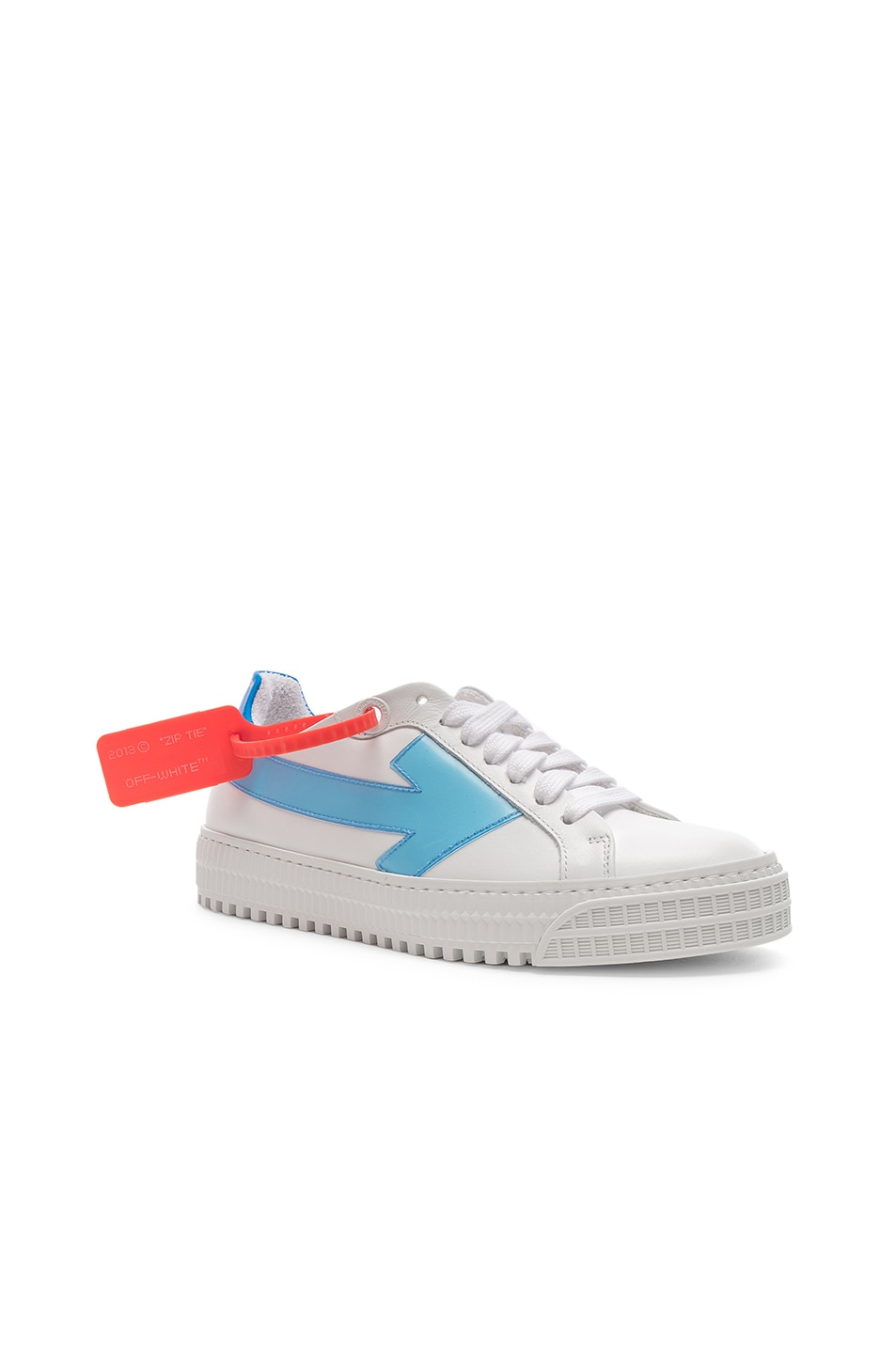 Image 2 of OFF-WHITE Arrow Sneaker in White & Blue
