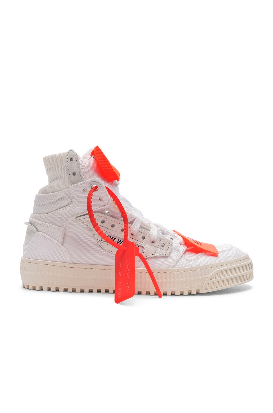 Image 1 of OFF-WHITE Off Court Sneaker in White & White