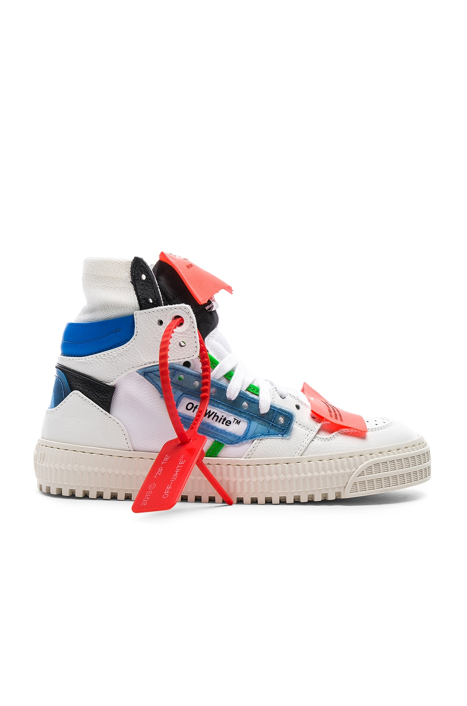 Image 1 of OFF-WHITE Off Court Sneaker in White & Blue