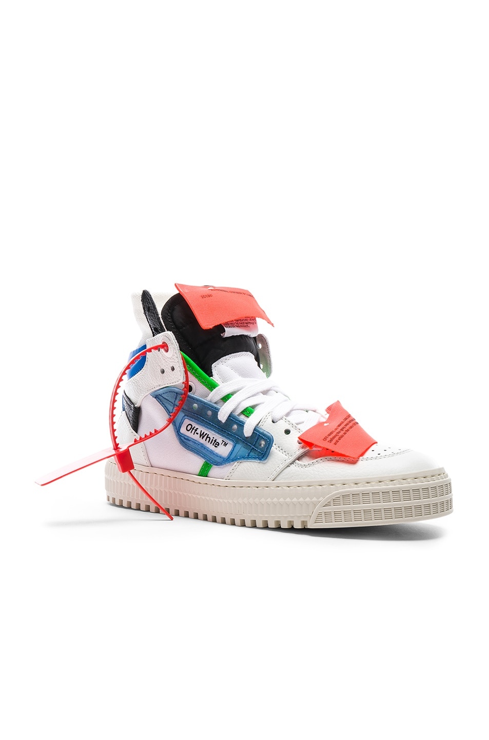 Image 2 of OFF-WHITE Off Court Sneaker in White & Blue