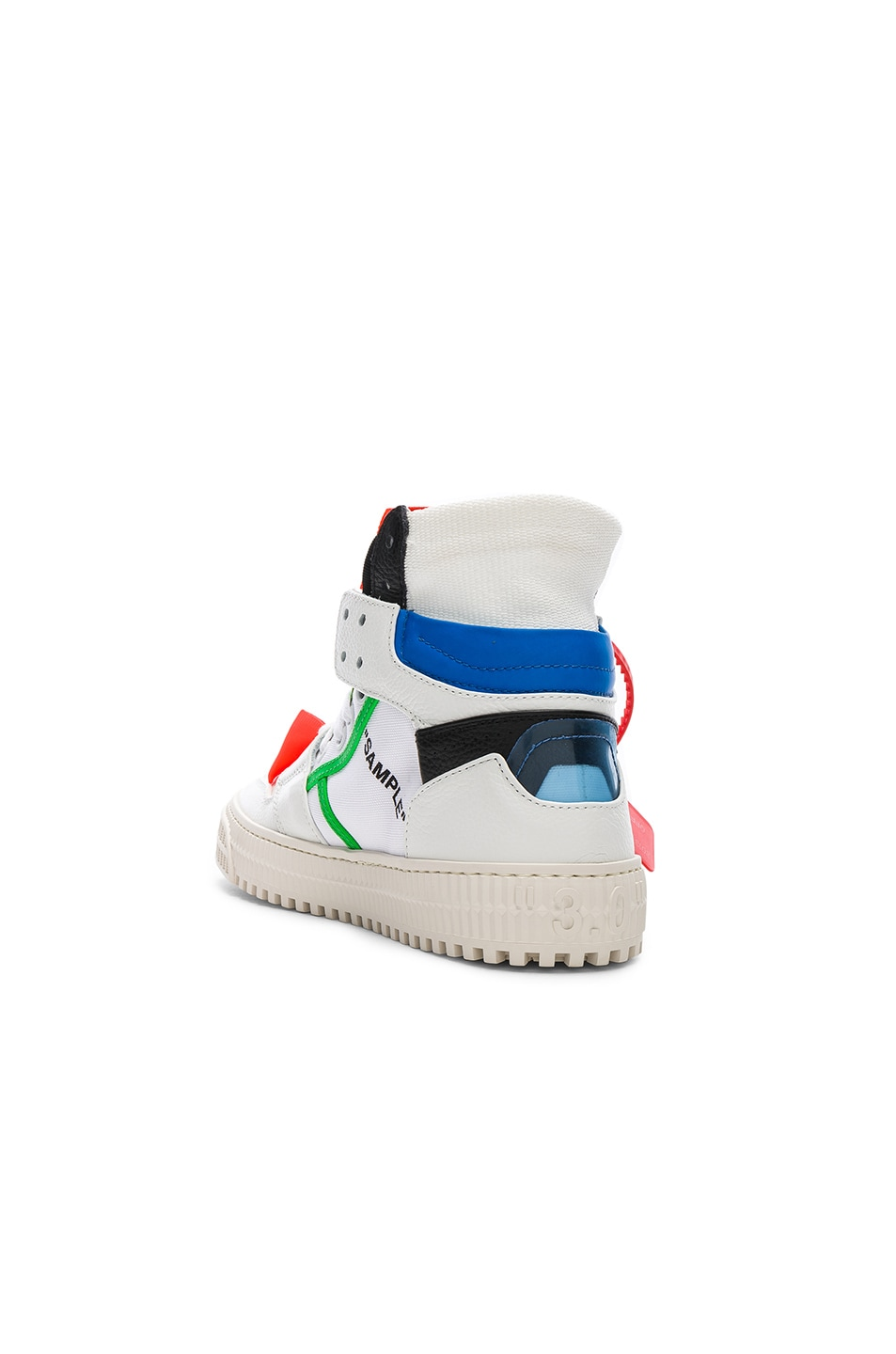 Image 3 of OFF-WHITE Off Court Sneaker in White & Blue