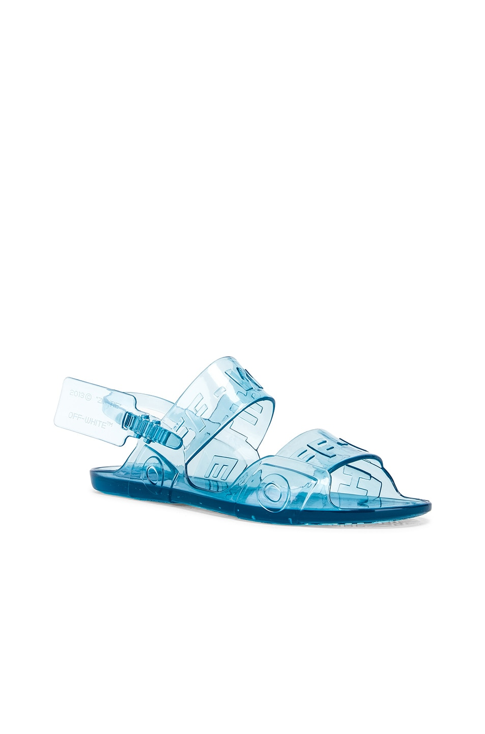 Image 2 of OFF-WHITE Zip Tie Jelly Sandal in Blue