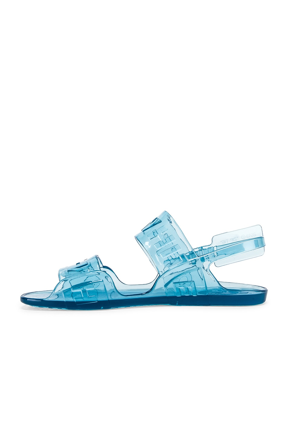 Image 5 of OFF-WHITE Zip Tie Jelly Sandal in Blue