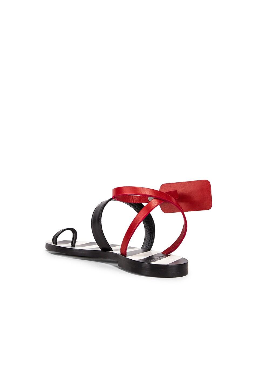 Image 3 of OFF-WHITE Zip Tie Capri Flat in Black