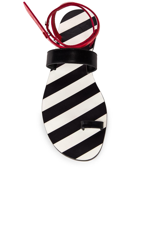 Image 4 of OFF-WHITE Zip Tie Capri Flat in Black