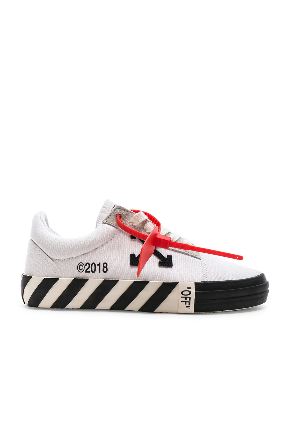 Image 1 of OFF-WHITE Striped Low Top Sneaker in White