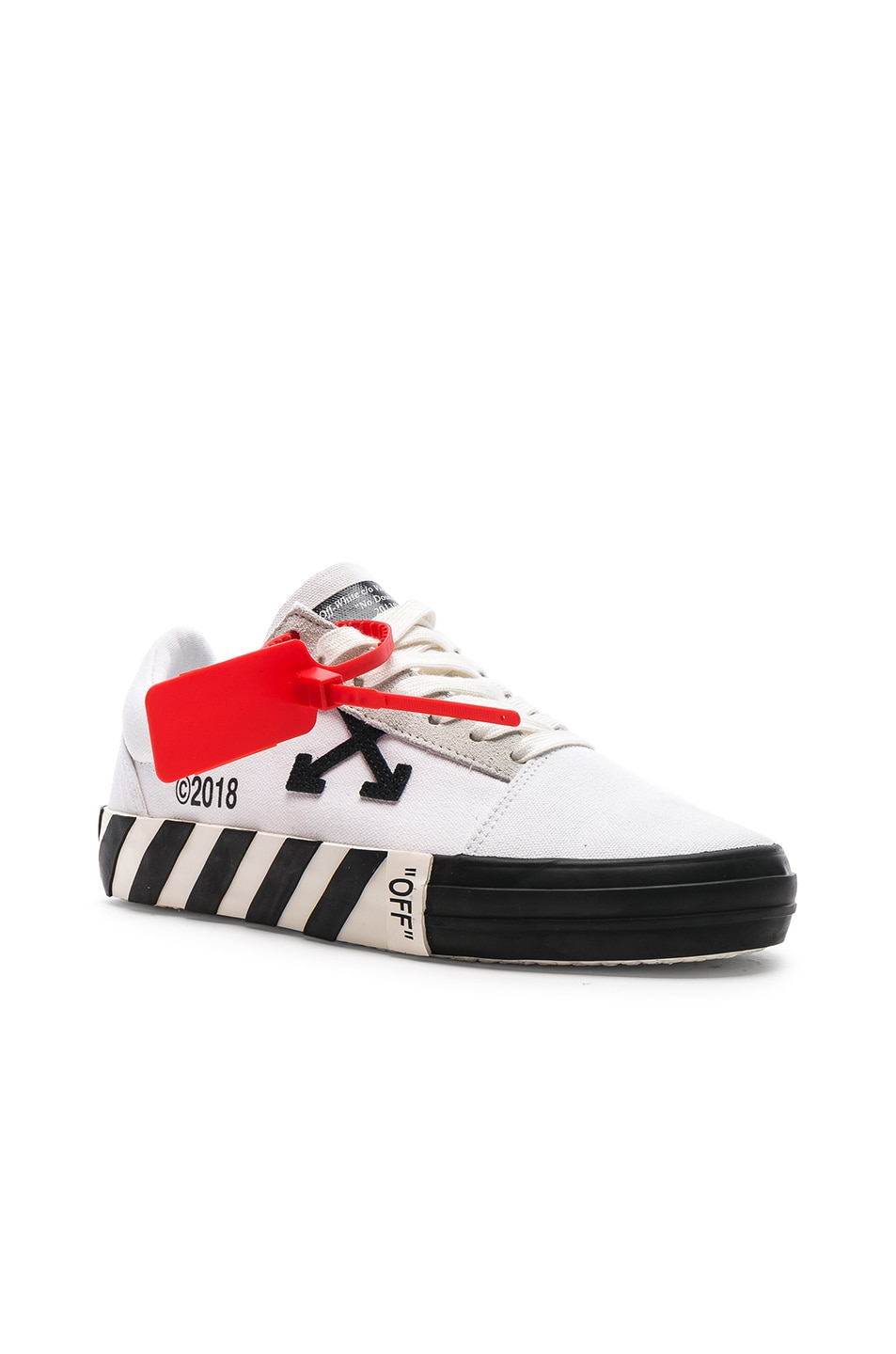 Image 2 of OFF-WHITE Striped Low Top Sneaker in White