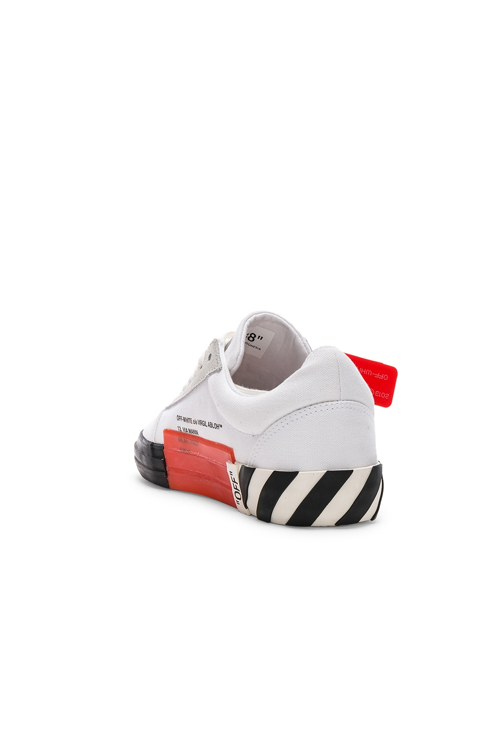 Image 3 of OFF-WHITE Striped Low Top Sneaker in White
