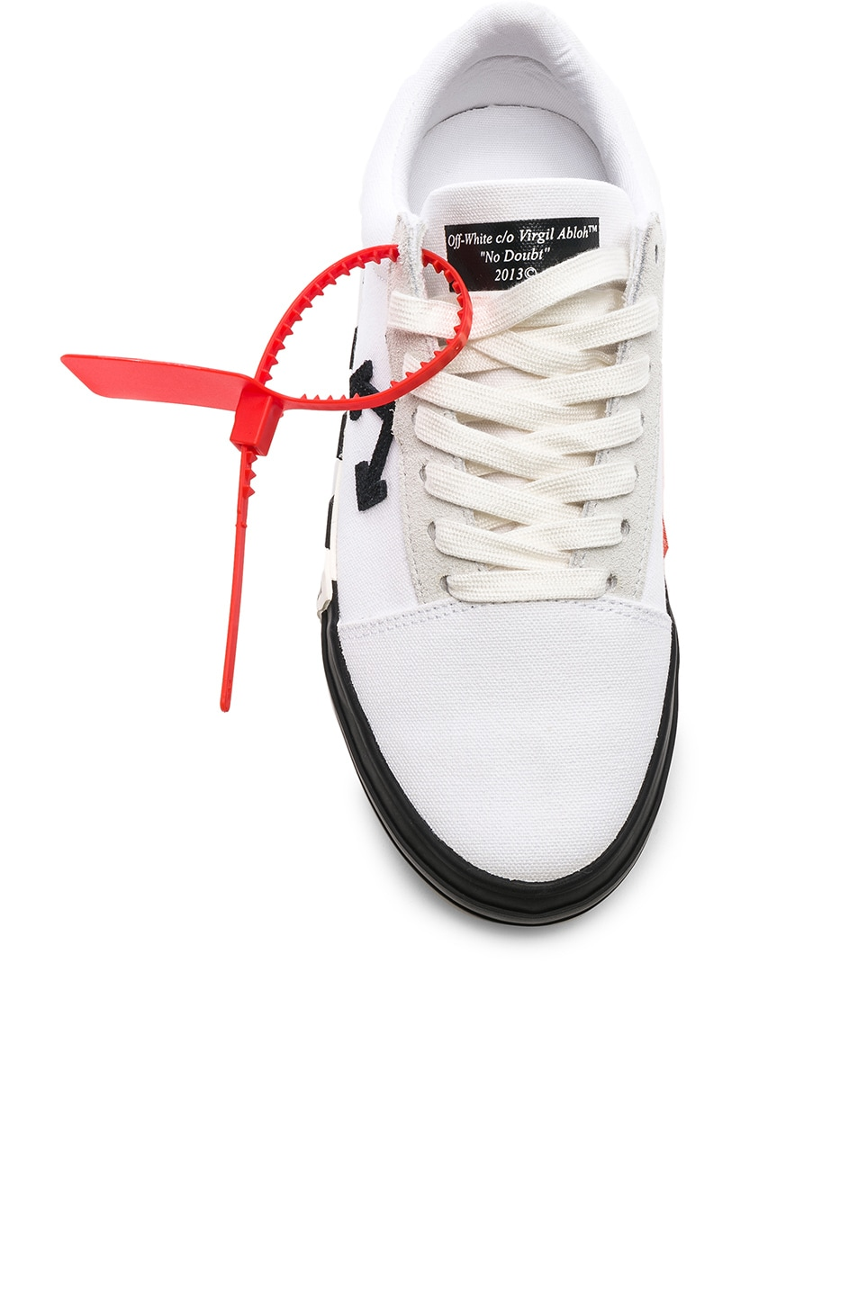 Image 4 of OFF-WHITE Striped Low Top Sneaker in White