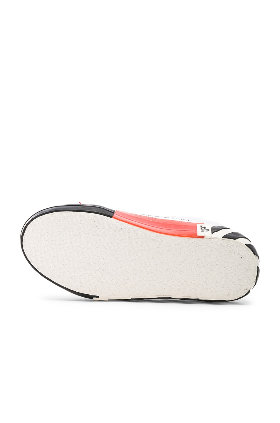 Image 6 of OFF-WHITE Striped Low Top Sneaker in White