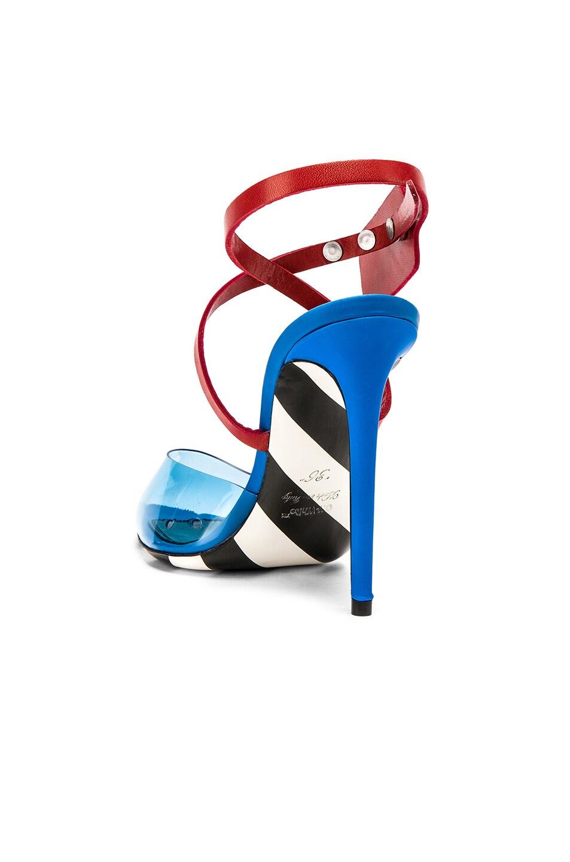 Image 3 of OFF-WHITE Zip Tie Mule Heel in Blue
