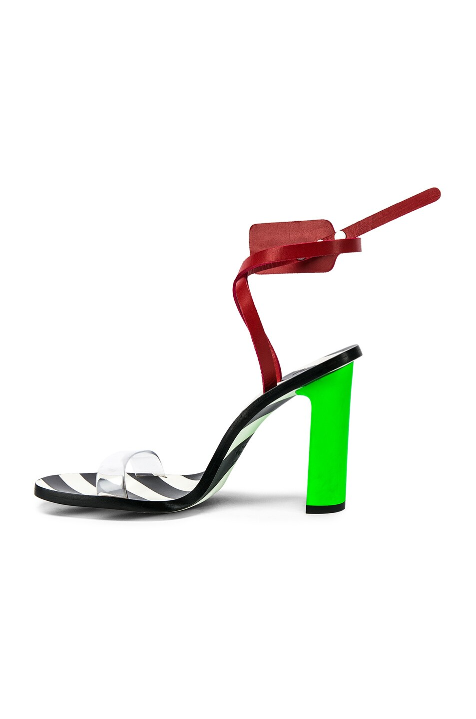 Image 5 of OFF-WHITE Zip Tie Capri Sandal in Green
