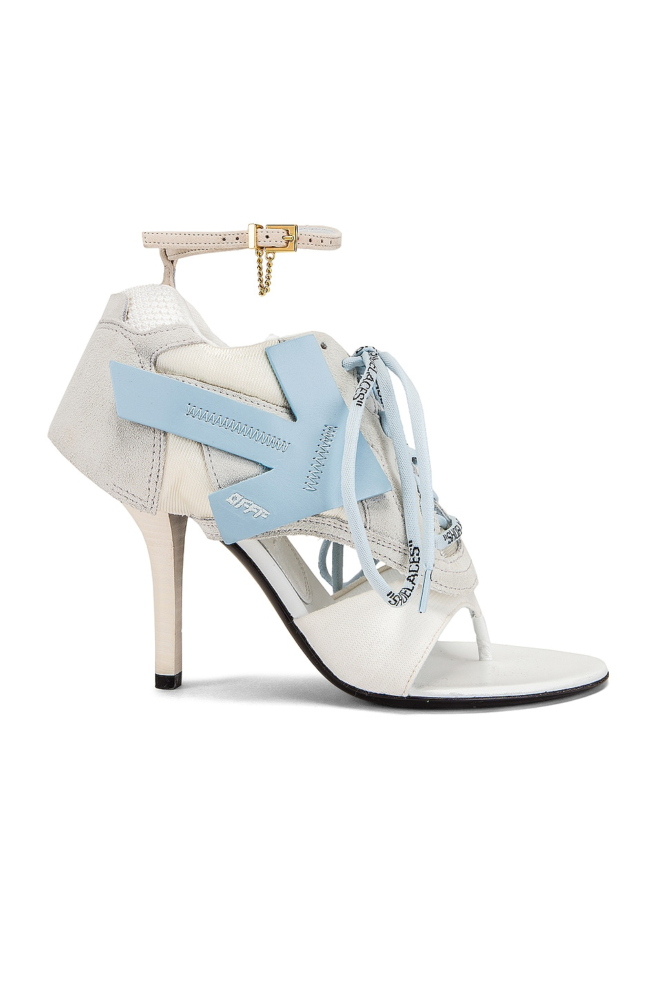 Image 1 of OFF-WHITE Heeled Runner in White & Baby Blue