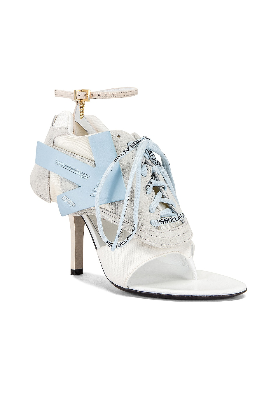 Image 2 of OFF-WHITE Heeled Runner in White & Baby Blue