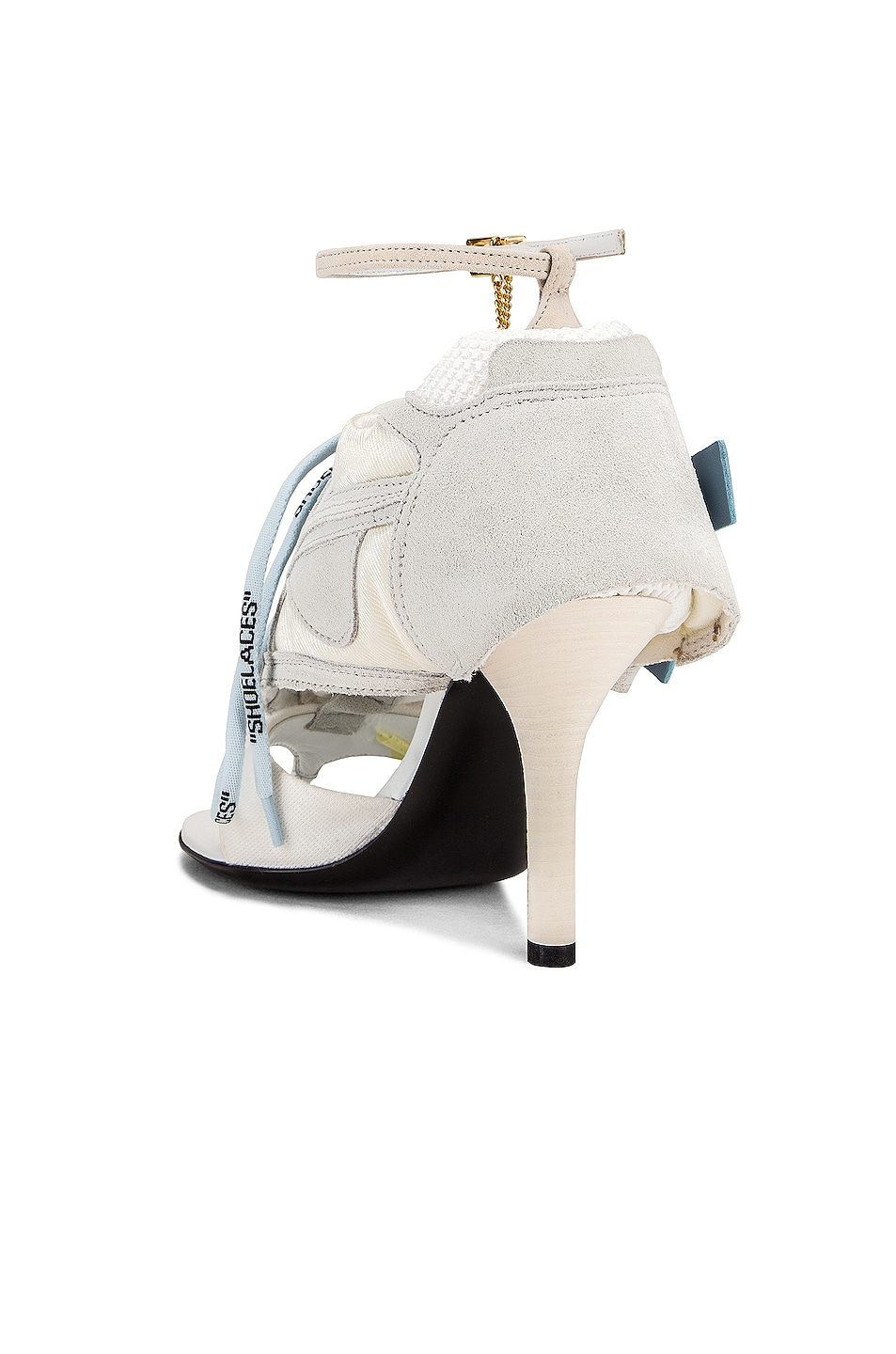 Image 3 of OFF-WHITE Heeled Runner in White & Baby Blue