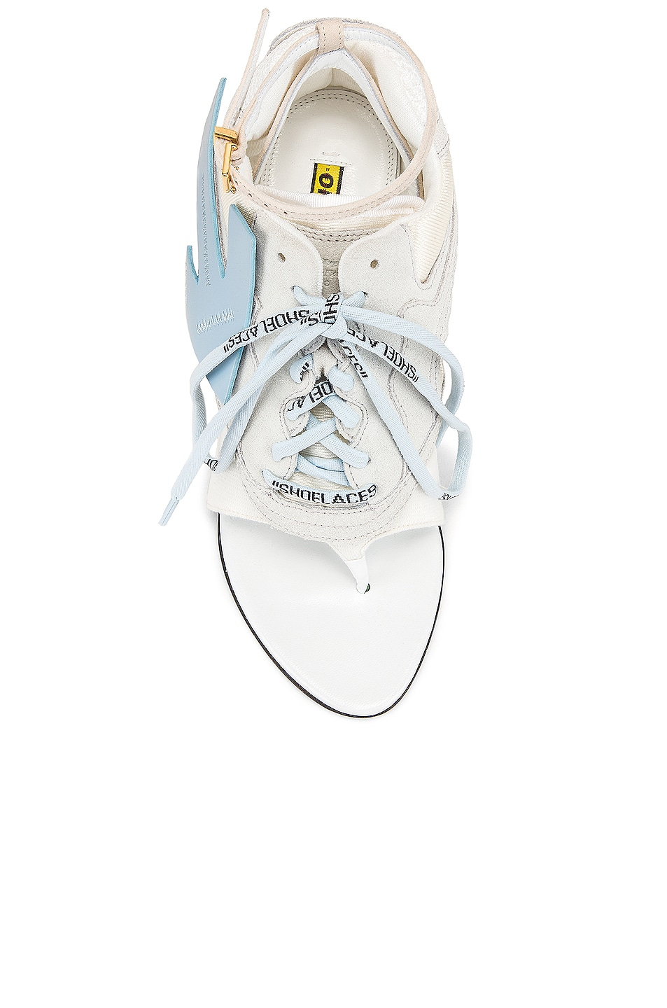 Image 4 of OFF-WHITE Heeled Runner in White & Baby Blue