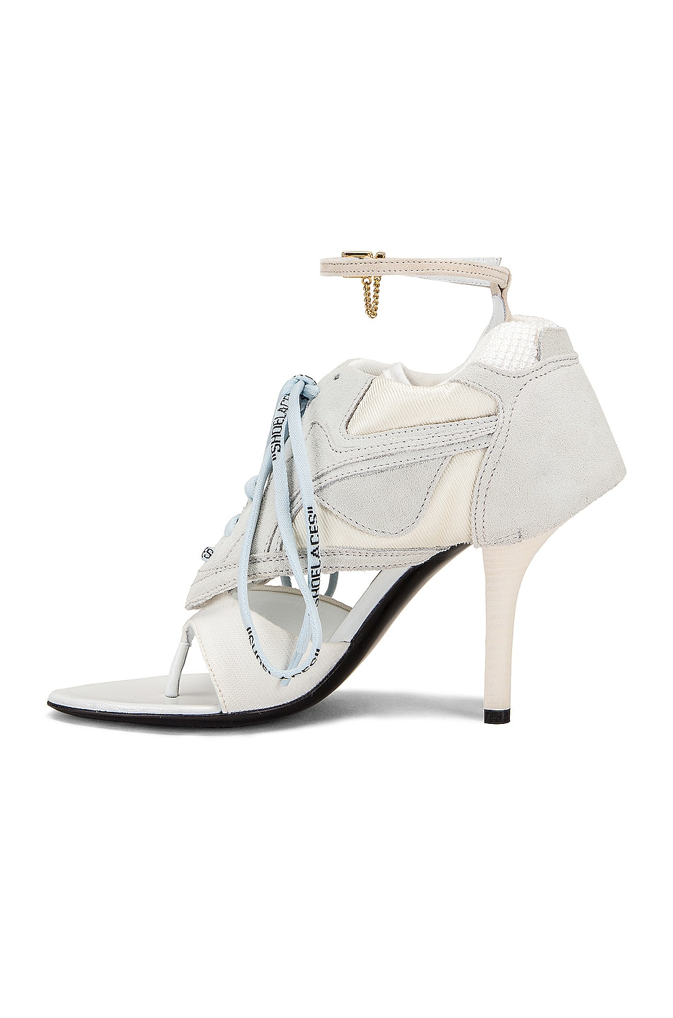 Image 5 of OFF-WHITE Heeled Runner in White & Baby Blue