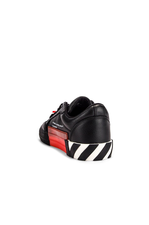 Image 3 of OFF-WHITE Arrow Low Vulcanized Sneaker in Black & White