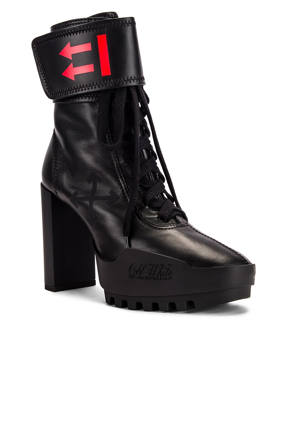 Image 2 of OFF-WHITE Heeled Moto Wrap Boot in Black