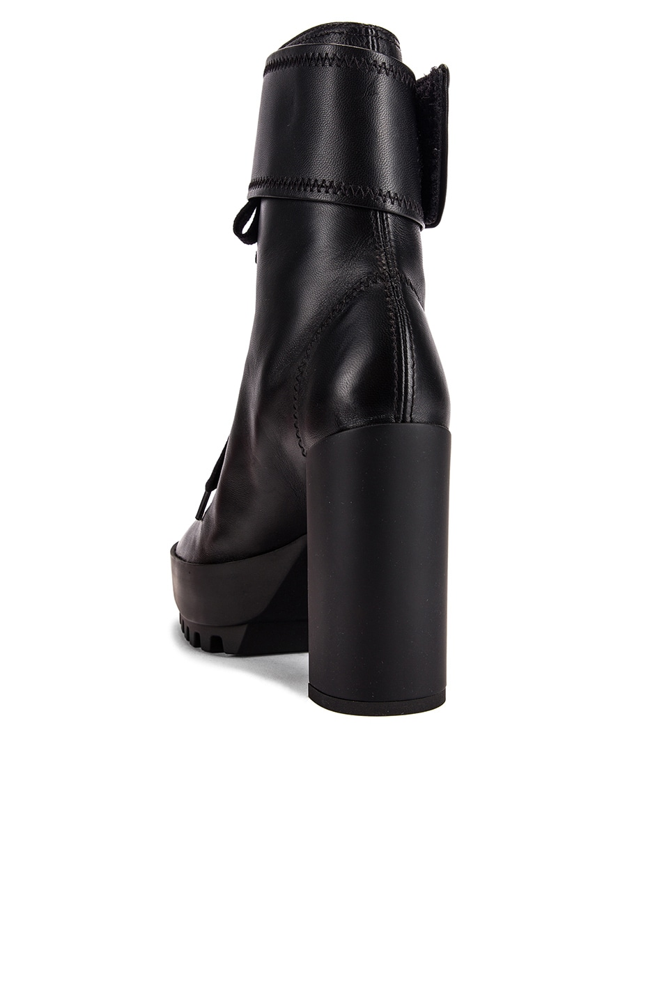 Image 3 of OFF-WHITE Heeled Moto Wrap Boot in Black