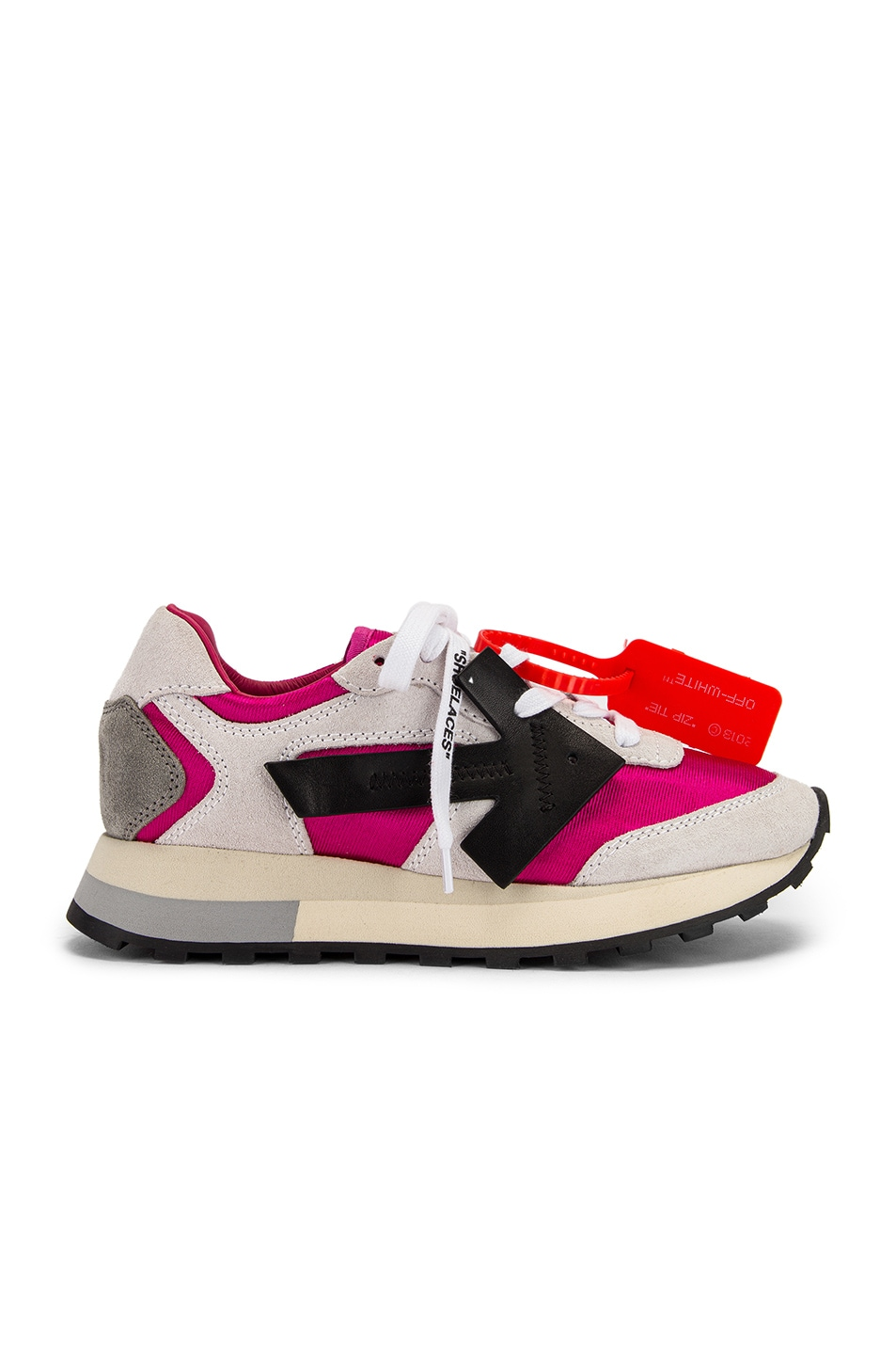 Image 1 of OFF-WHITE HG Runner Sneaker in Fuchsia & Black