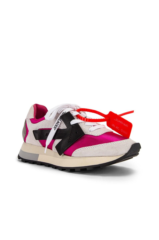 Image 2 of OFF-WHITE HG Runner Sneaker in Fuchsia & Black