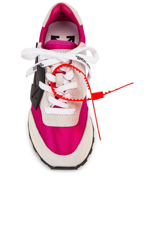 Image 4 of OFF-WHITE HG Runner Sneaker in Fuchsia & Black