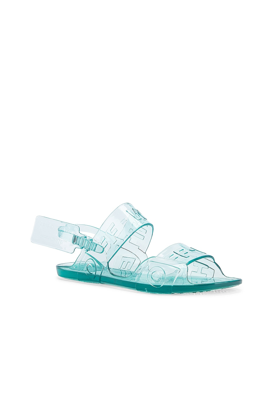Image 2 of OFF-WHITE Zip Tie Jelly Sandal in Light Blue