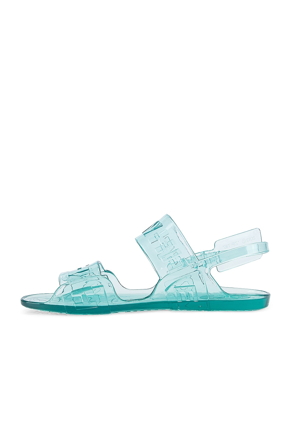 Image 5 of OFF-WHITE Zip Tie Jelly Sandal in Light Blue
