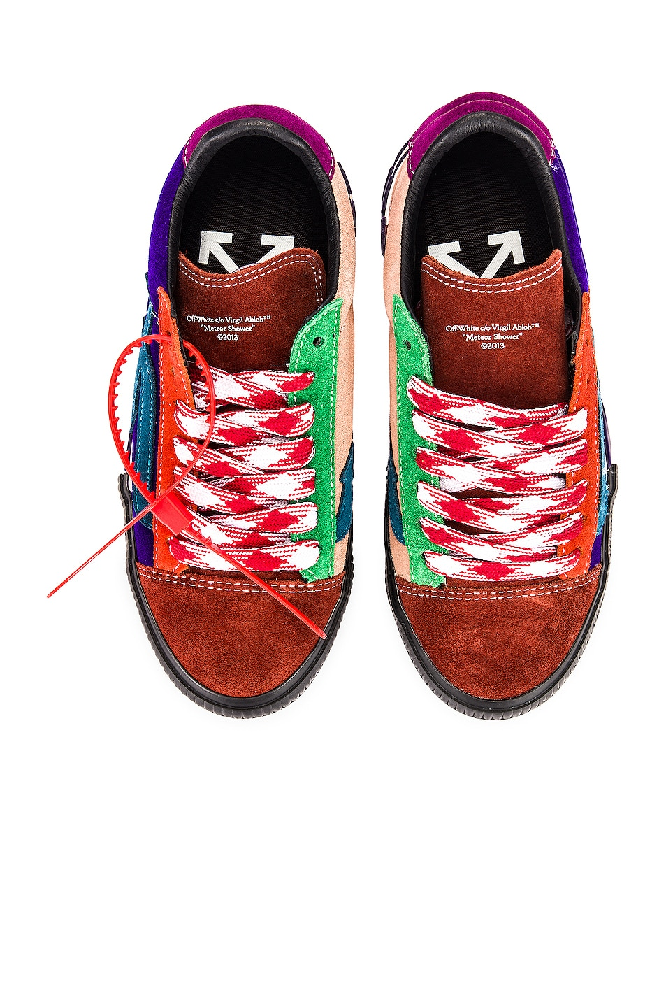 Image 1 of OFF-WHITE New Arrow Low Vulcanized Sneaker in Multicolor Blue